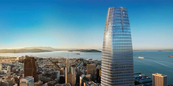 salesforce tower setzt neue ma st be in san francisco it times. Black Bedroom Furniture Sets. Home Design Ideas