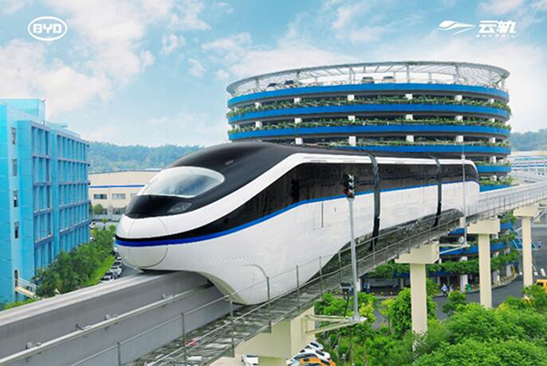 BYD mit Paukenschlag: Fabrik für Monorail-System Skyrail in den USA geplant