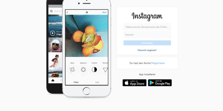 Instagram Registrierung