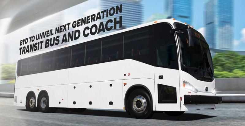 BYD präsentiert in den USA zwei neue elektrische Modelle als Fernreise- und Stadtbus