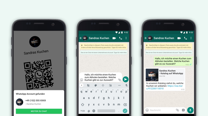 WhatsApp: QR-Codes für WhatsApp Business App oder API verfügbar - Kataloge teilbar