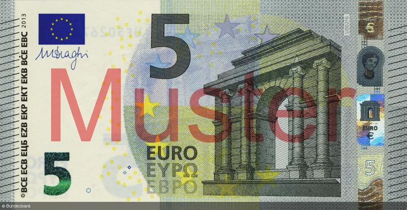 Gewicht 5 Euro Schein